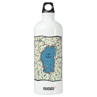 Full Lake Tahoe Area Map Water Bottle