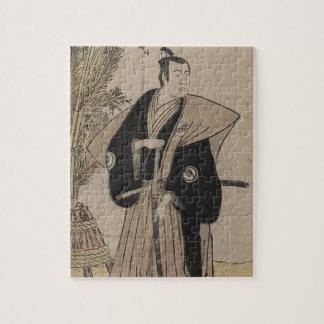 Full-length Portrait of a Samurai Warrior c. 1780 Jigsaw Puzzle
