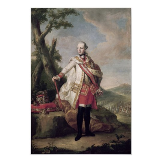 Full length portrait of Joseph II Poster