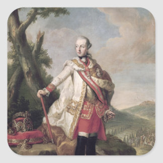 Full length portrait of Joseph II Square Sticker