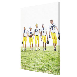 Full length portrait of rugby team gallery wrapped canvas
