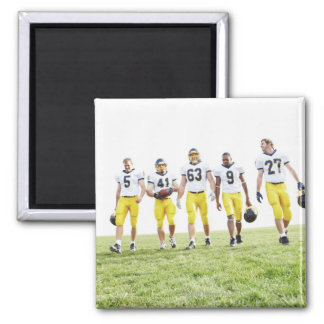 Full length portrait of rugby team refrigerator magnets