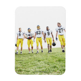Full length portrait of rugby team rectangle magnet