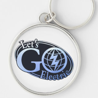 Full Let's Go Electric Logo Keychain