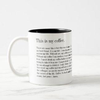 Full Metal... Coffee? Two-Tone Coffee Mug