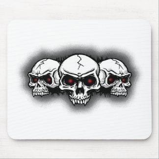 Full Metal Rock Skulls Mouse Pad