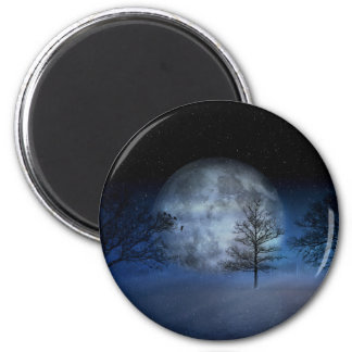 Full Moon Among the Treetops Magnet