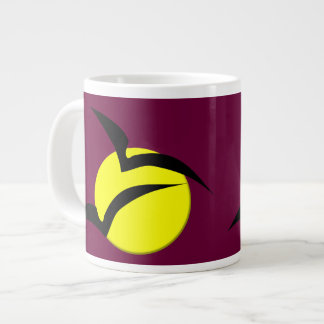 Full Moon and Bats Mug 20 Oz Large Ceramic Coffee Mug