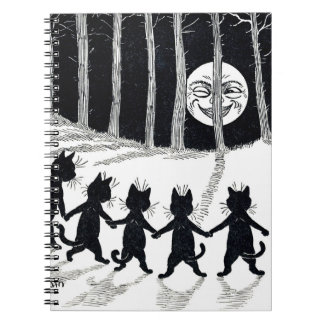Full moon and Cats, Louis Wain Notebook