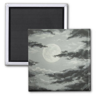 Full Moon and Cloudy Night Sky Magnet
