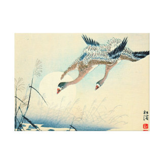 Full Moon and Flying Geese 1870 Canvas Print
