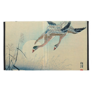 Full Moon and Flying Geese 1870 iPad Folio Cover