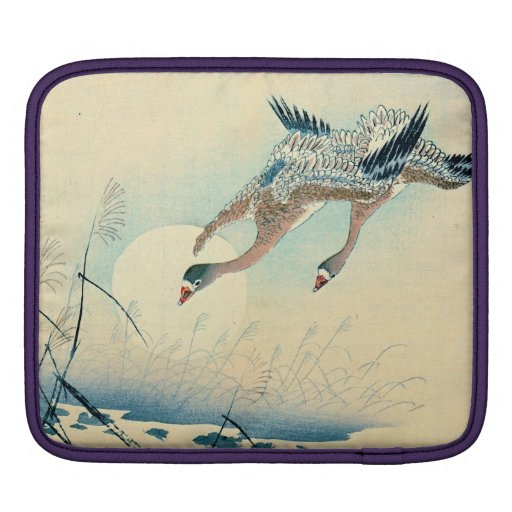 Full Moon and Flying Geese 1870 Sleeve For iPads
