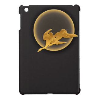 Full moon and flying wild geese japanese pattern iPad mini case