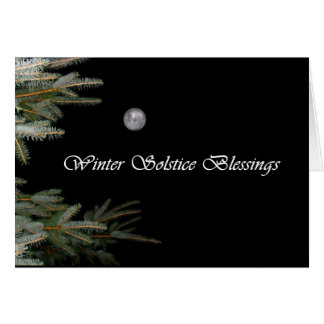 Full Moon and Pine Tree Yule Card
