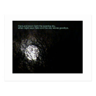 Full Moon and Poem Postcards