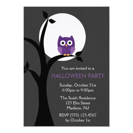 Full Moon and Spooky Owl Halloween Card