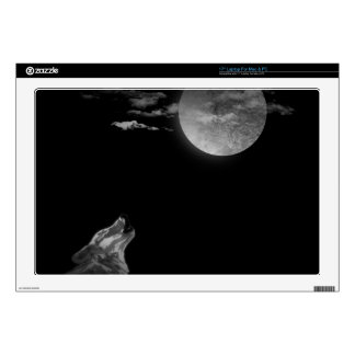 Full moon and the wolf decals for laptops