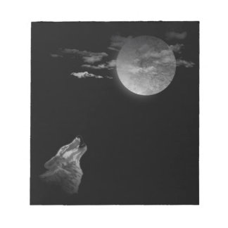 Full moon and the wolf notepad