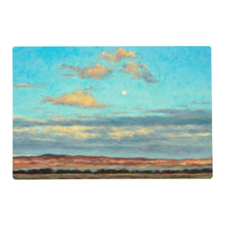 Full Moon at Dusk 2 Sided Plastic Placemat