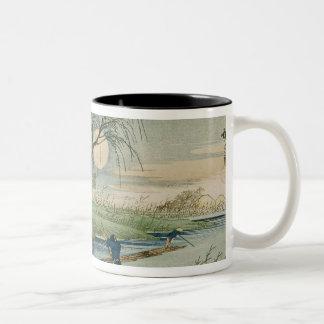 Full Moon at Seba Two-Tone Coffee Mug