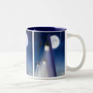 Full Moon at the WA Monument Two-Tone Coffee Mug