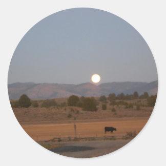 Full Moon at Twilight Classic Round Sticker