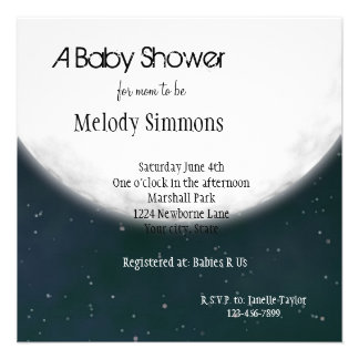 Full Moon Baby Shower Personalized Invitations