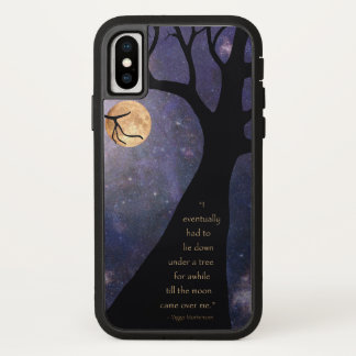 Full Moon Bare Trees iPhone X Case