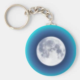 Full Moon Basic Round Button Keychain