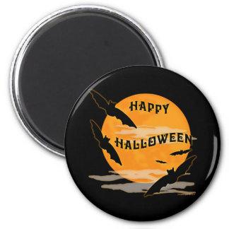 Full Moon Bats Happy Halloween Refrigerator Magnets