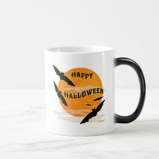 Full Moon Bats Happy Halloween 11 Oz Magic Heat Color-Changing Coffee Mug