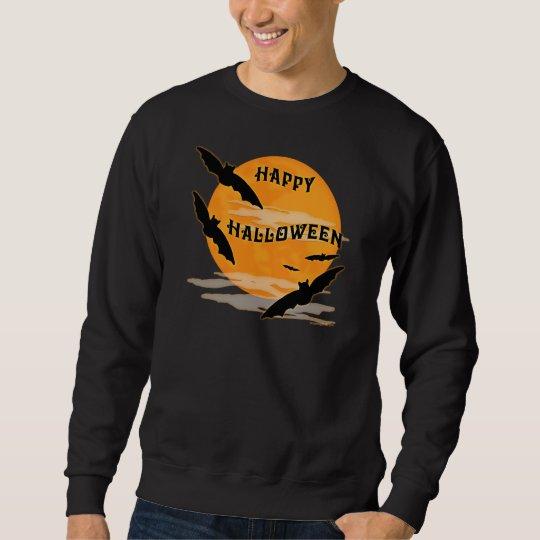 Full Moon Bats Happy Halloween Sweatshirt