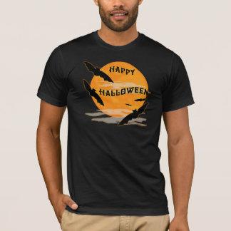 Full Moon Bats Happy Halloween T-Shirt