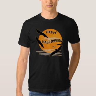 Full Moon Bats Happy Halloween Tee Shirt