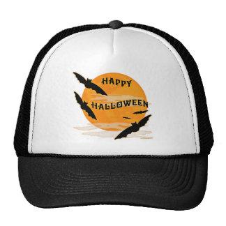 Full Moon Bats Happy Halloween Trucker Hat