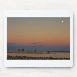 Full Moon Beach Watching At Sunset Mouse Pad