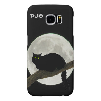 Full Moon Black Cat on a Branch Samsung Galaxy S6 Case