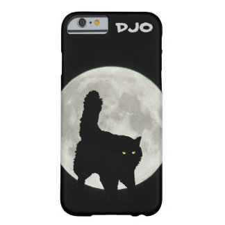 Full Moon Black Cat Stalking Barely There iPhone 6 Case