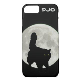 Full Moon Black Cat Stalking iPhone 8/7 Case