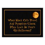 Full Moon & Black Cats Halloween Party Invitation