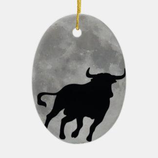 Full Moon - Brave Toro Running - M1 Ceramic Ornament