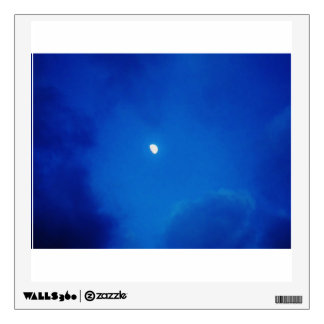 Full Moon Bright Blue Clouds Room Decal