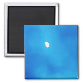 Full Moon Bright Blue Clouds with trees Magnets