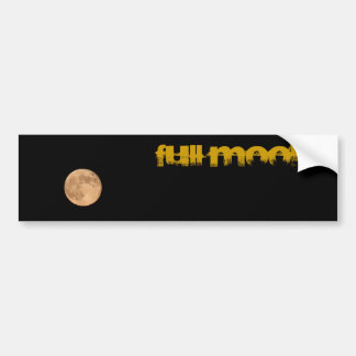 Full Moon Car Bumper Sticker