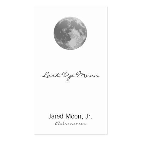 Full Moon Astronomy Business Cards