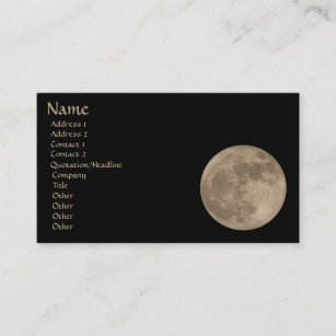 Full moon business cards templates zazzle full moon business card personalize your cards colourmoves