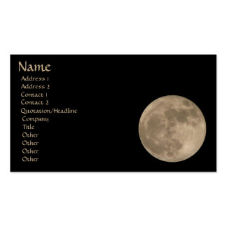 Full Moon Business Card Personalize Your Cards