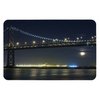 Full Moon by San Francisco Bay Bridge Flexi Magnet