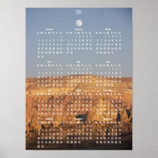Full Moon Calendar Poster